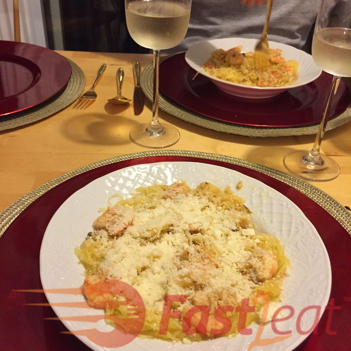 Molho de Camarão para Massas ou Abóbora Spaghetti Fast2eat